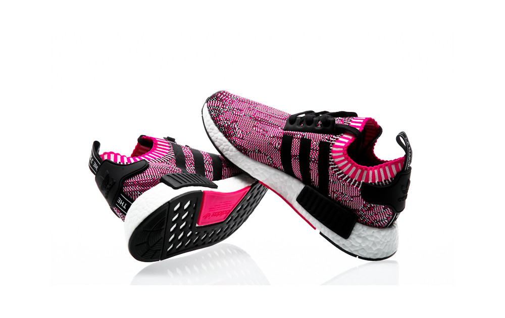 887dc336a ... adidas Originals NMD R1 W PK shock pink-core black-footwear white ...