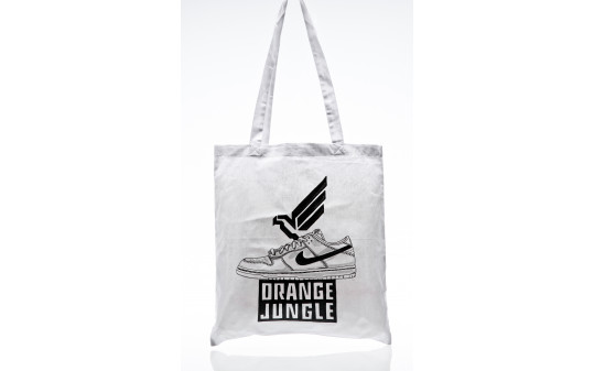 Orange Jungle SB Dunk Bag white black