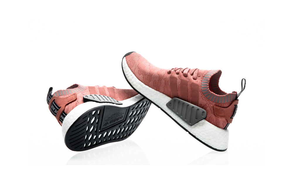 80cec6817 ... adidas Originals NMD R2 PK W raw pink-raw pink-grey three ...