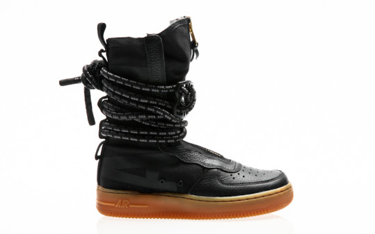 Nike SF Air Force 1 Hi Boot black-black-gum light brown