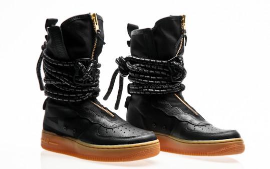 Nike SF Air Force 1 Hi Boot black-black-gum light brown