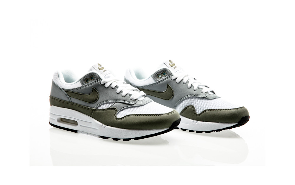 buy online 96f1e da21d ... Nike Air Max 1 Womens white-dark stucco-light pumice-black ...