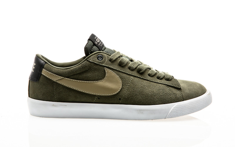 Nike SB Blazer Low GT QS cargo khaki gum light brown-black-bamboo
