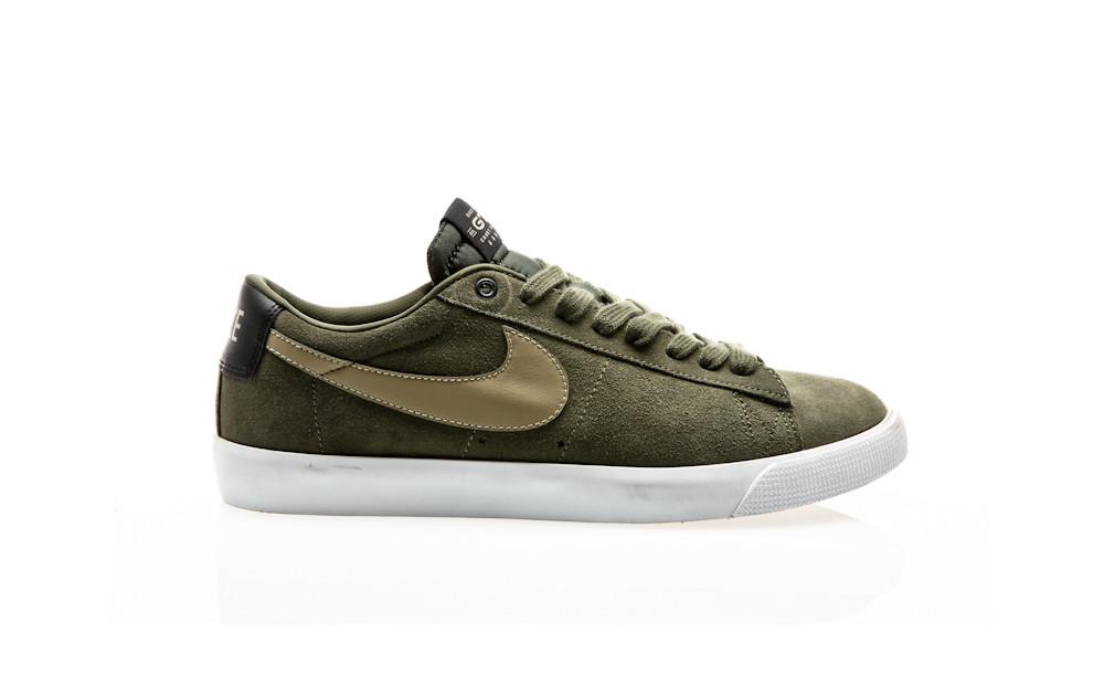 aef62cf34a7a Nike SB Blazer Low GT QS cargo khaki gum light brown-black-bamboo ...