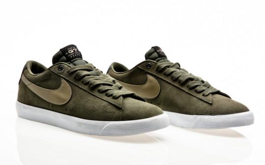 Nike SB Blazer Low GT QS cargo khaki gum light brown-black-bamboo
