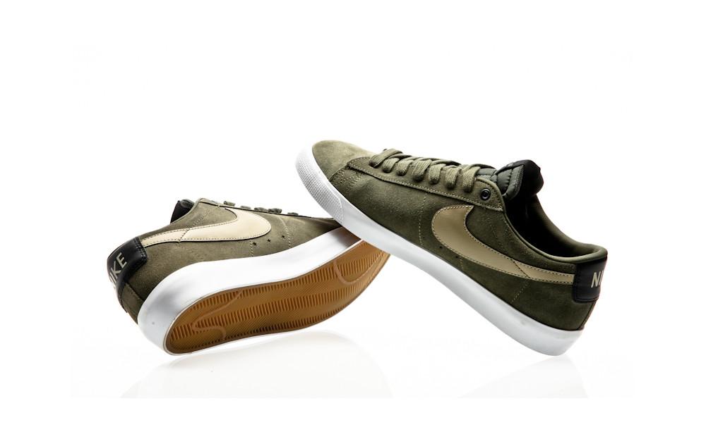 afe793be0f60 ... Nike SB Blazer Low GT QS cargo khaki gum light brown-black-bamboo ...