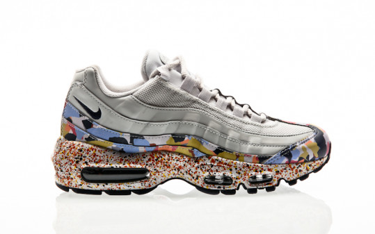 Nike Air Max 95 SE Shoe vast grey-midnight navy-habanero red