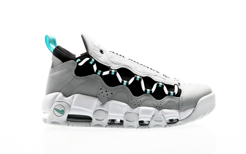 Nike Air More Money Shoe wolf grey-island green-black