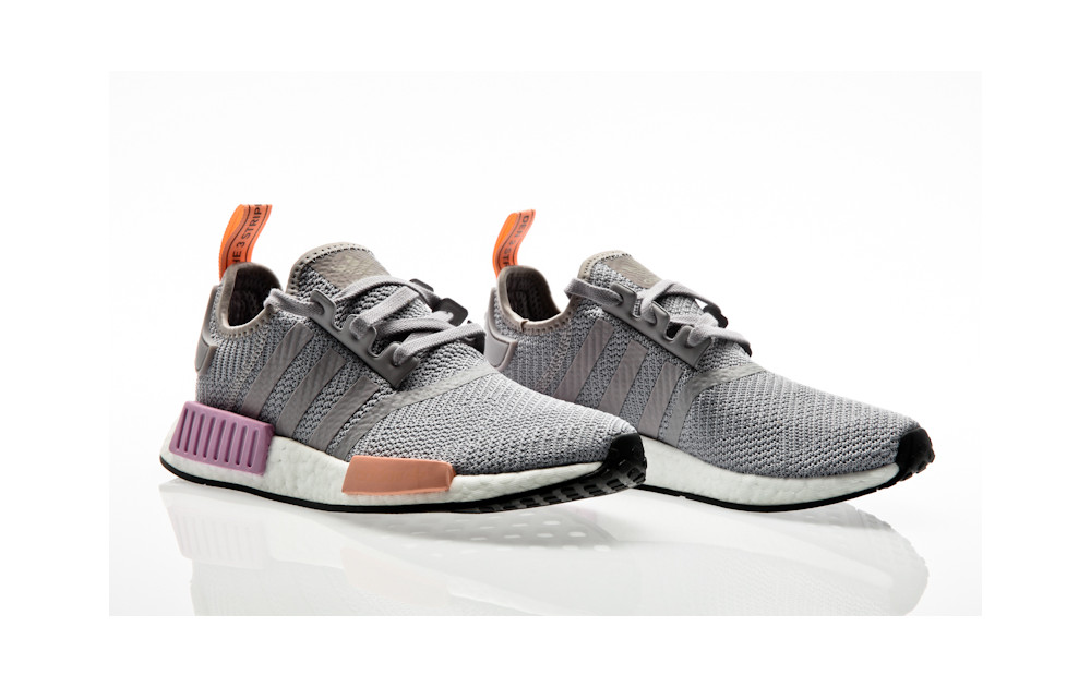 0e5a2e040a6bb ... adidas Originals NMD R1 W light granite-light granite-clear orange ...