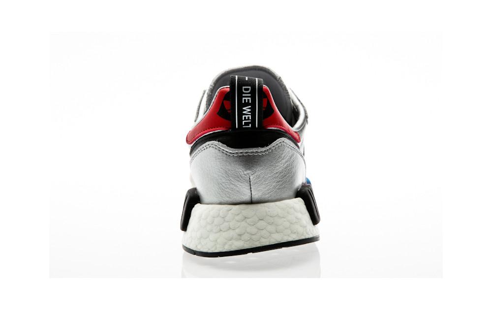 ae775911d2799 ... adidas Originals Risingstar X R1 Never Made silver metallic-collegiate  red-footwear white