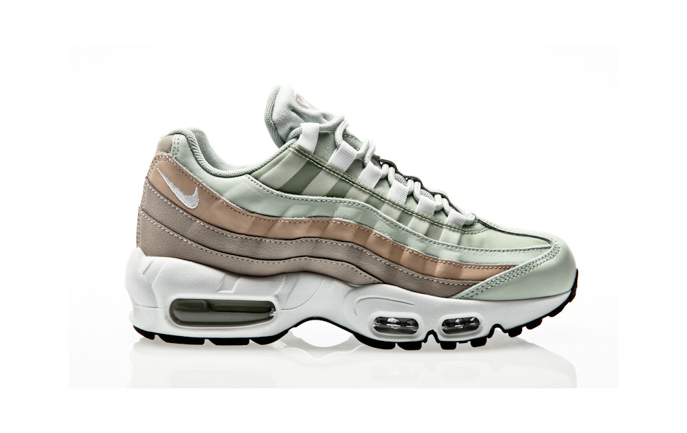 0d5f560668 Nike Air Max 95 Shoe light silver-white-moon particle ...
