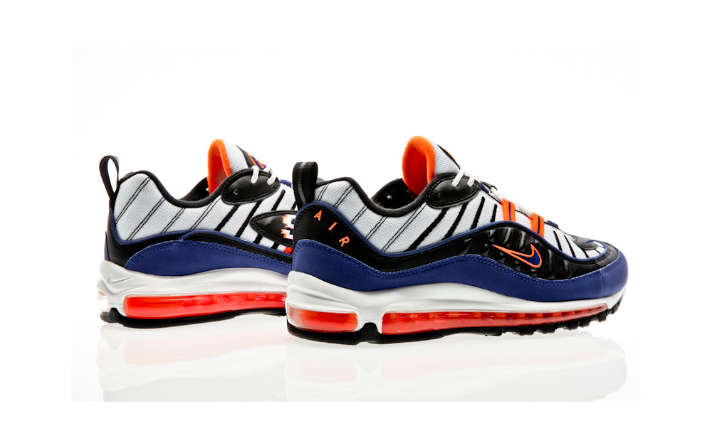 dbe7afc770 ... Nike Air Max 98 white-deep royal blue-total orange-black ...