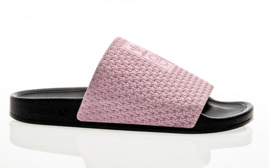 adidas Originals Adilette Luxe W clear pink-core black-gold metallic