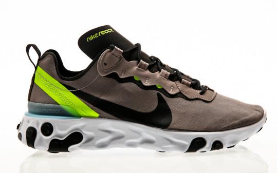 Nike React Element 55 pumice-black-white-blue chill