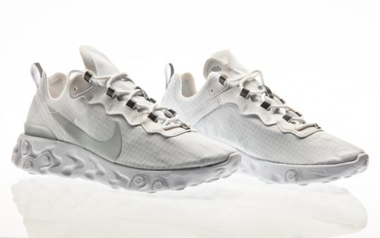 Nike React Element 55 SE white-pure platinum