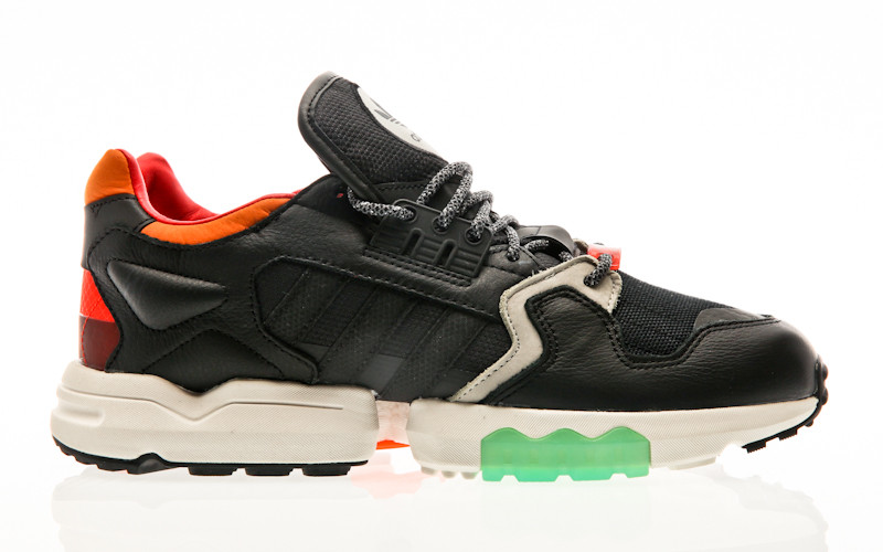 adidas Originals ZX Torsion core black orange bold green