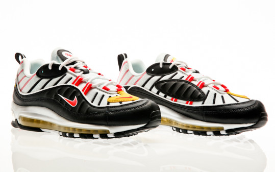Nike Air Max 98 black-bright crimson-white-chrome yellow