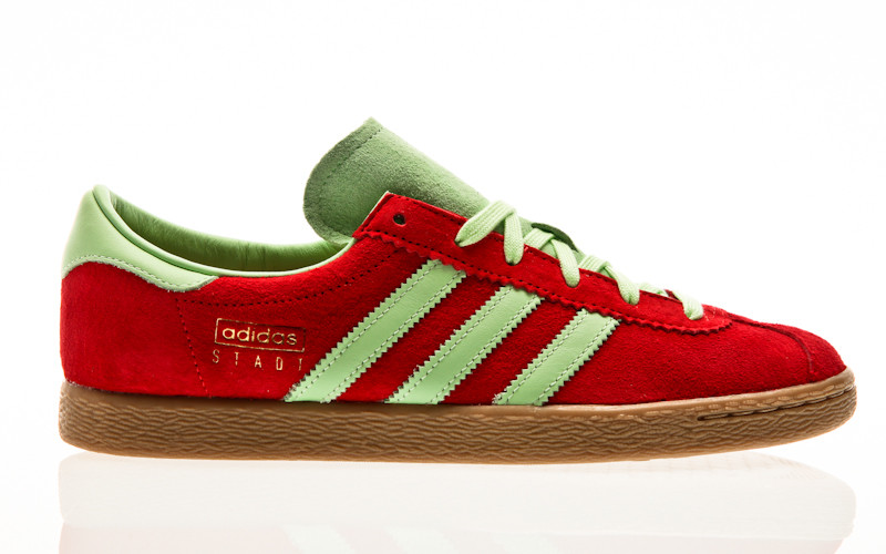 adidas Originals Stadt scarlet-glow green-gold metallic