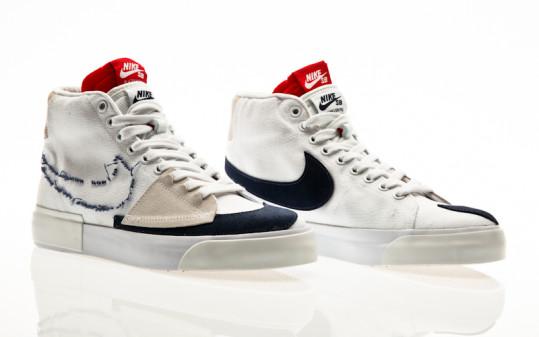 Nike SB Zoom Blazer Mid Edge white-midnight navy-university red