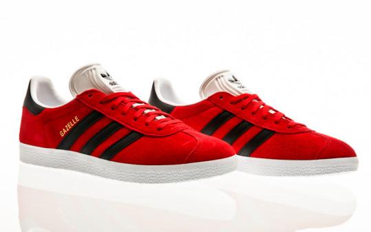 adidas Originals Gazelle scarlet-core black-footwear white