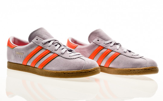 adidas Originals Stadt purple tint-signal coral-shock yellow