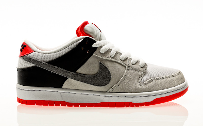 Nike SB Dunk Low Pro ISO Infrared Orange Label neutral grey-cool grey-black-infrared