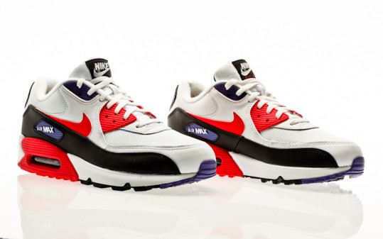 Nike Air Max 90 Essential white-red orbit-psychic purple-black