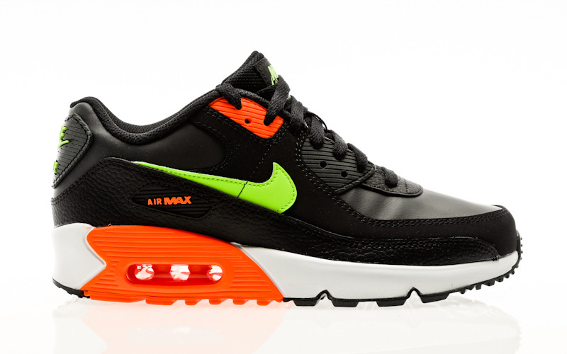 Nike Air Max 90 GS black-ghost green-total orange