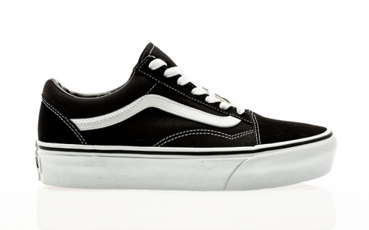 Vans Old Skool Platform black-white