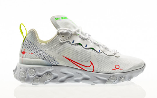 Nike React Element 55 white-laser crimson-racer blue