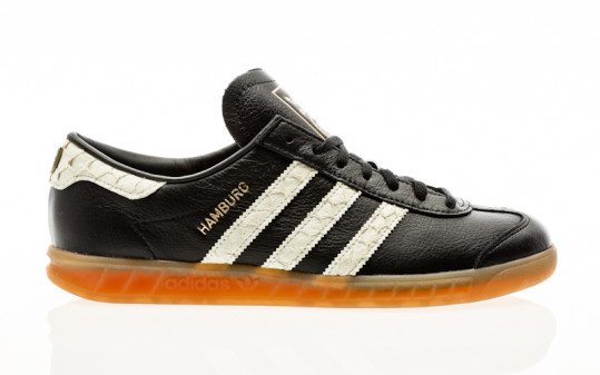 adidas originals Hamburg core black-footwear white-lush red