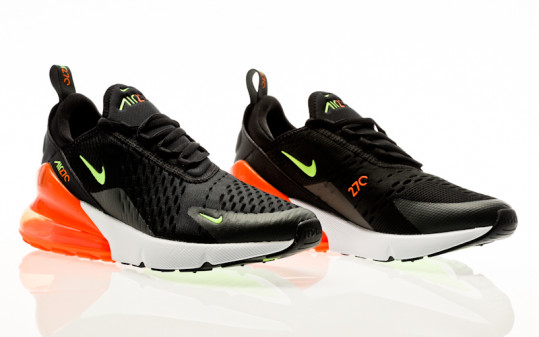 Nike Air Max 270 black-ghost green-total orange