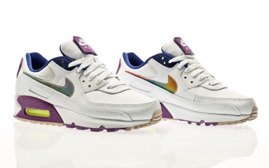 Nike W Air Max 90 SE white-multi-color-purple nebula