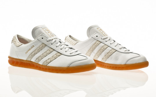 adidas Originals Hamburg footwear white-silver metallic-grey two