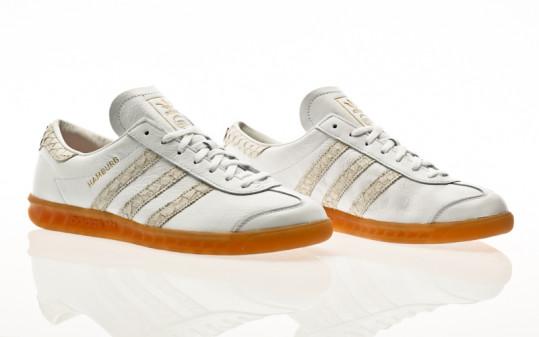 adidas Originals Hamburg footwear white-silver metallic-grey two