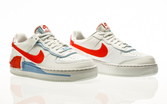 Nike W Air Force 1 Shadow SE summit white-summit white-team orange
