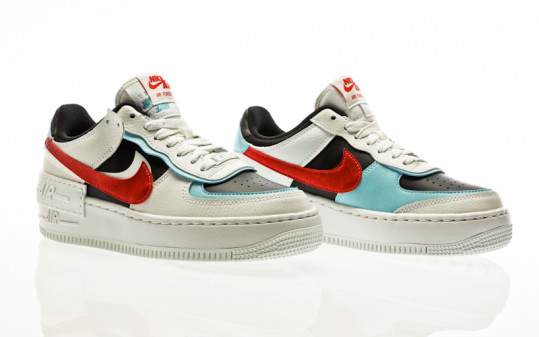 Nike Air Force 1 Shadow summit white-chile red-bleached aqua