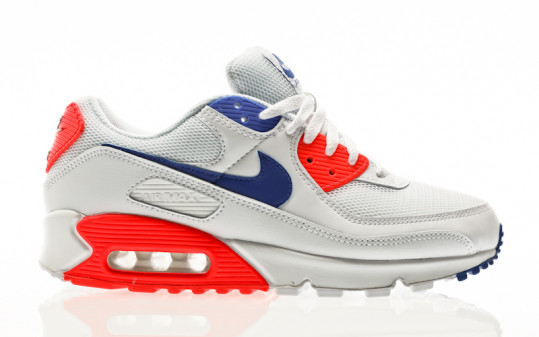 Nike W Air Max 90 white-racer blue-flash crimson