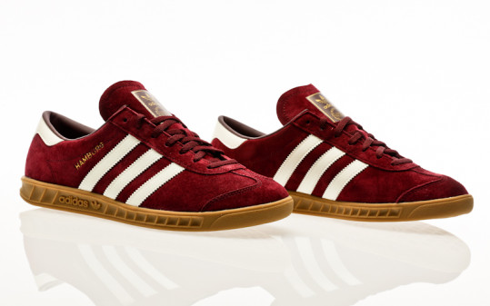 adidas Originals Hamburg maroon-off white-gum