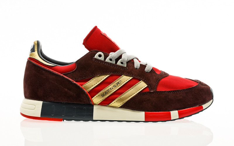 adidas Originals Boston Super power red-gold metallic-night red