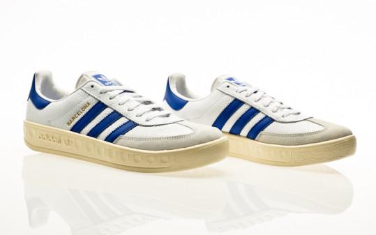 adidas Originals Barcelona footwear white-blue-cream white