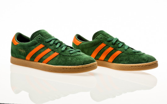 adidas Originals Stadt amazon green-bright orange-gum