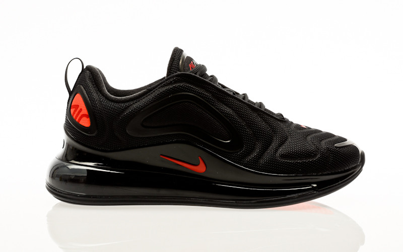 Nike Air Max 720 black-hyper crimson-university red