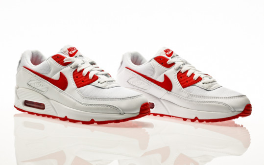 Nike Air Max 90 white-hyper red-black