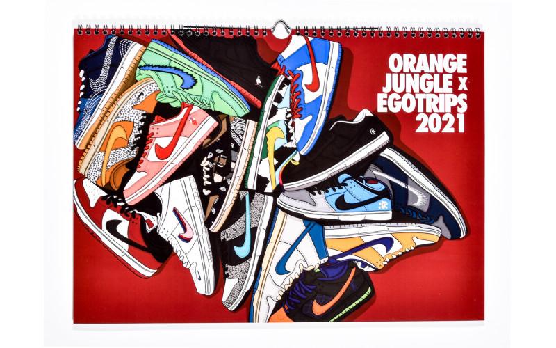 Orange Jungle OJ-Dunk Kalender 2021 Mehrfarbig