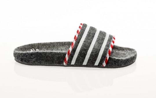 adidas Originals Adilette grey five-grey three-footwear white