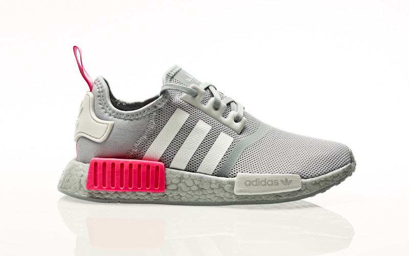 adidas Originals NMD_R1 J halo silver-footwear white-screaming pink