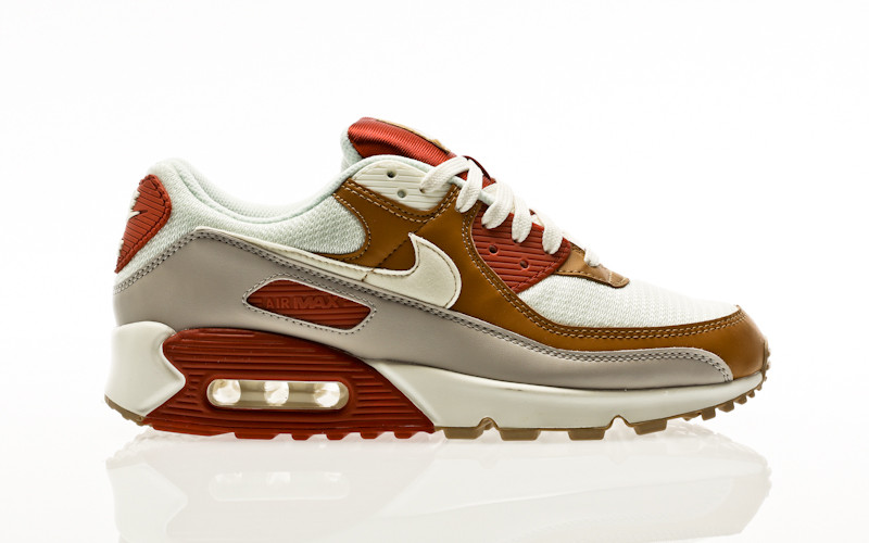 Nike Air Max 90 rugged orange-sail-wheat-gum light brown