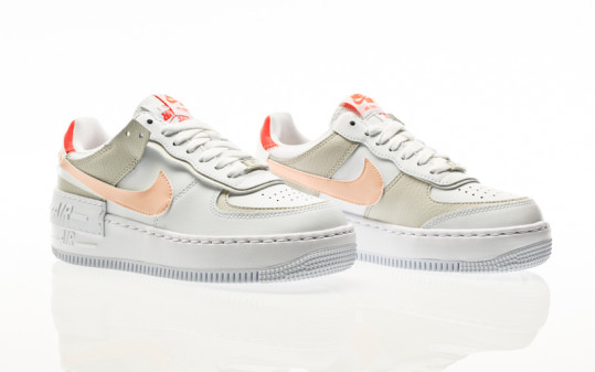 Nike W Air Force 1 Shadow white-crimson tint-bright mango