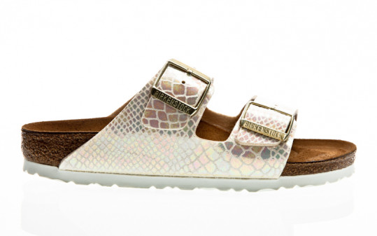 Birkenstock Arizona BF shiny snake cream